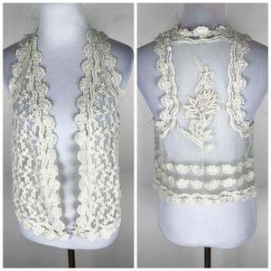 Zara Trafaluc Lace Vest